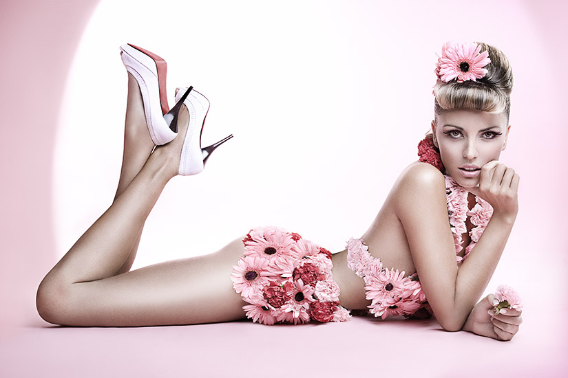 Retouche Pin'up flower